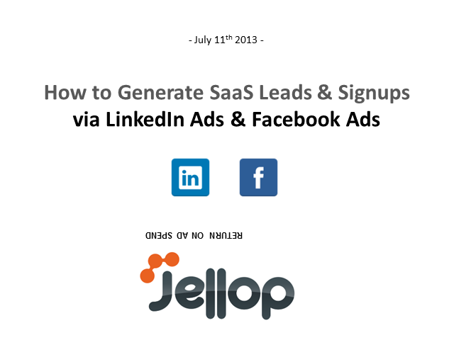 How to Generate SaaS Leads via LinkedIn Ads and Facebook Ads