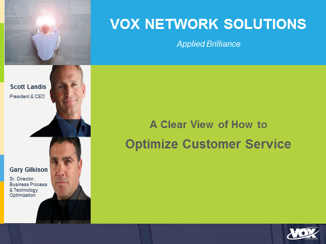 A Clear View of How to Optimize Customer Service