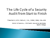 The Life Cycle of a Security Audit from Start to Finish