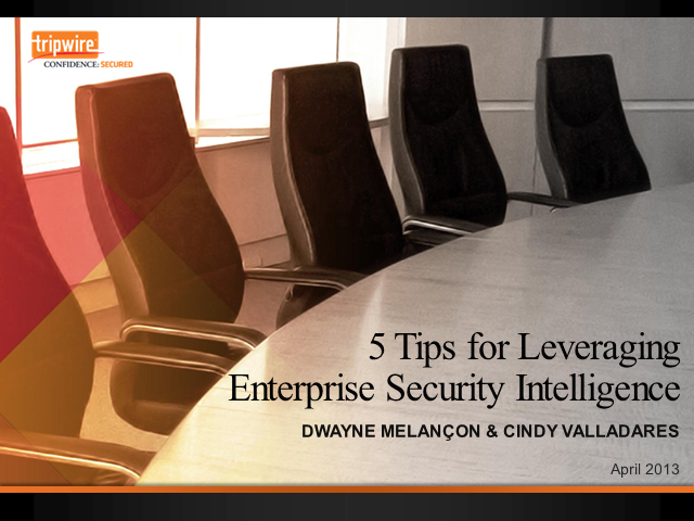 The Emergence of Enterprise Security Intelligence (AMER)