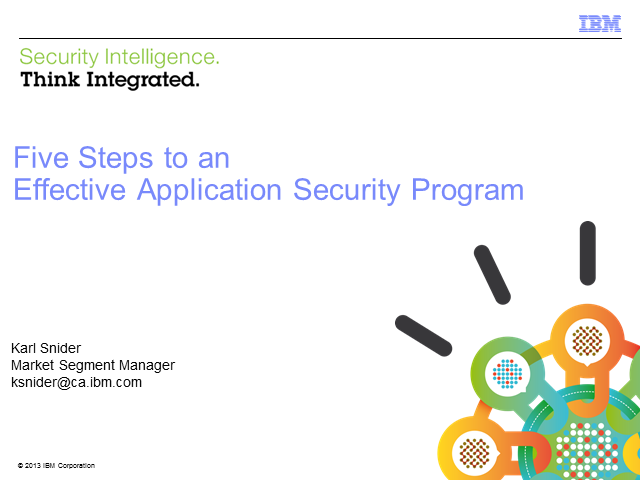 Five Steps to an Effective Application Security Program