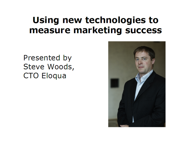 Using new technologies to measure marketing success