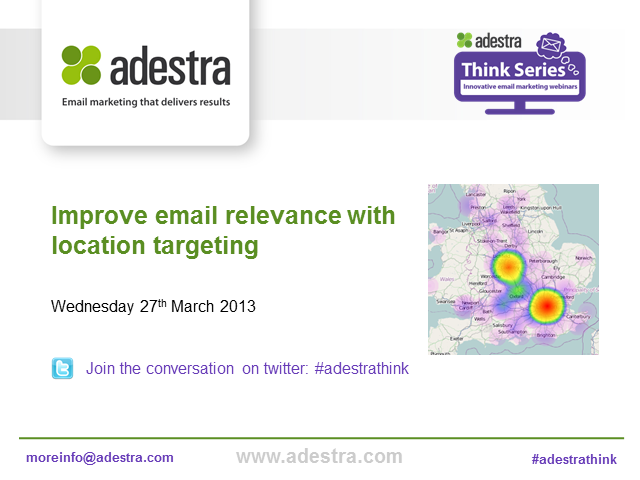 Improve email relevance with location targeting