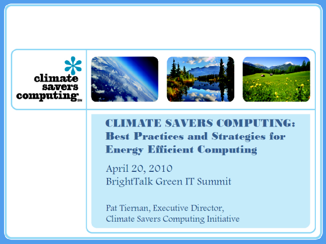 Best Practices and Strategies for Energy Efficient Computing