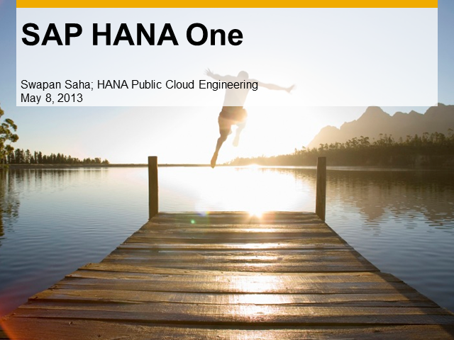 Take a Deep Dive into HANA Technology in the Cloud and Get Your $120 AWS Credit