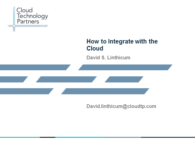 How to Integrate with the Cloud