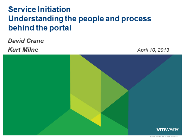 Service Initiation: Understanding the People and Process Behind the Portal