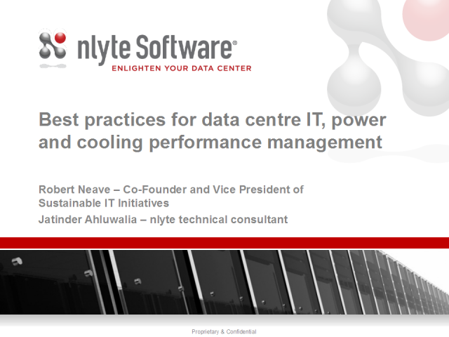 Best Practices for Data Centre IT, Power and Cooling Performance