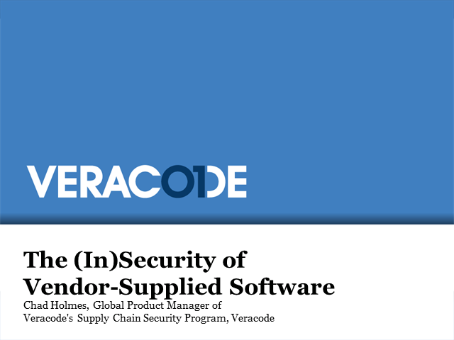 The (In)Security of Vendor-Supplied Software