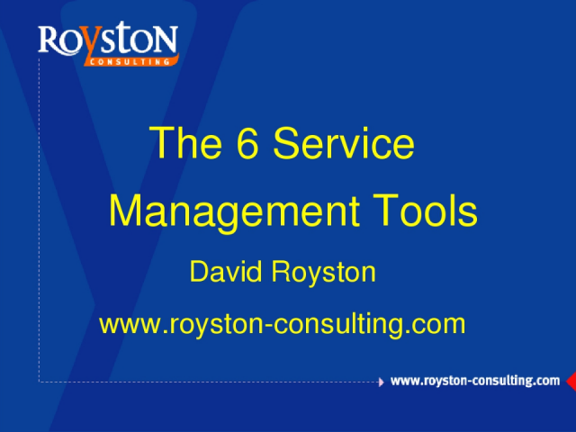 The 6 Service Management Tools