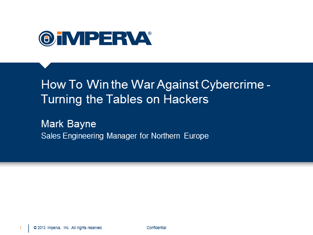 How To Win the War Against Cybercrime - Turning the Tables on Hackers