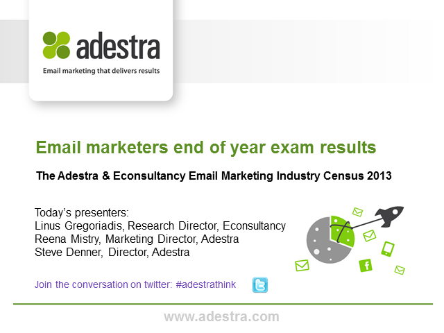 Email marketers 'end of year exam results' - findings of the 2013 Email Census