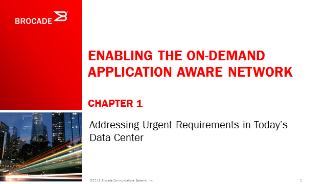 Enabling The On-Demand Application Aware Network (1st Chapter)