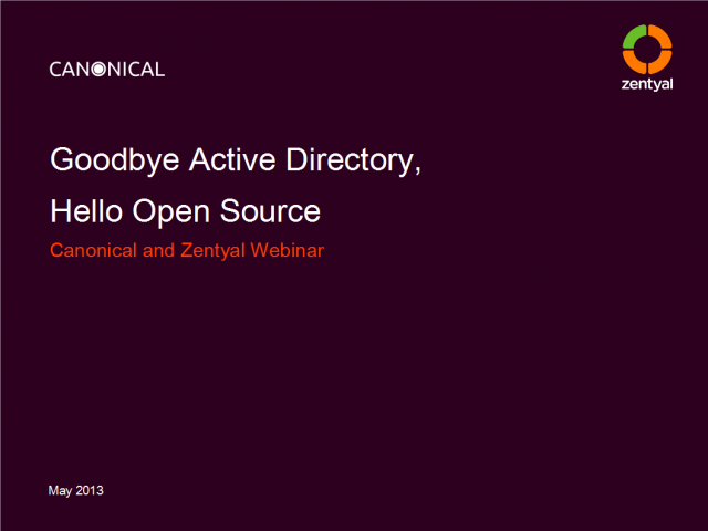 Goodbye Active Directory - Hallo Open Source