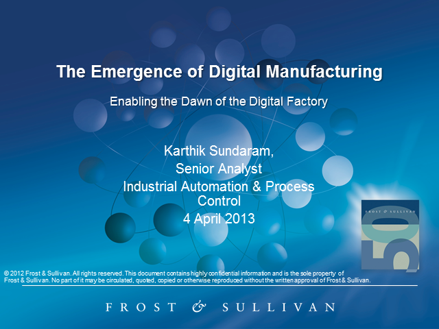 The Emergence of Digital Manufacturing