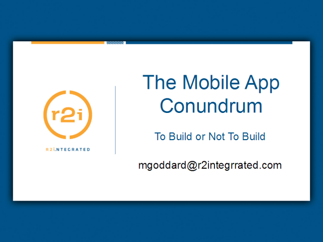 The Mobile App Conundrum: To Build or Not to Build