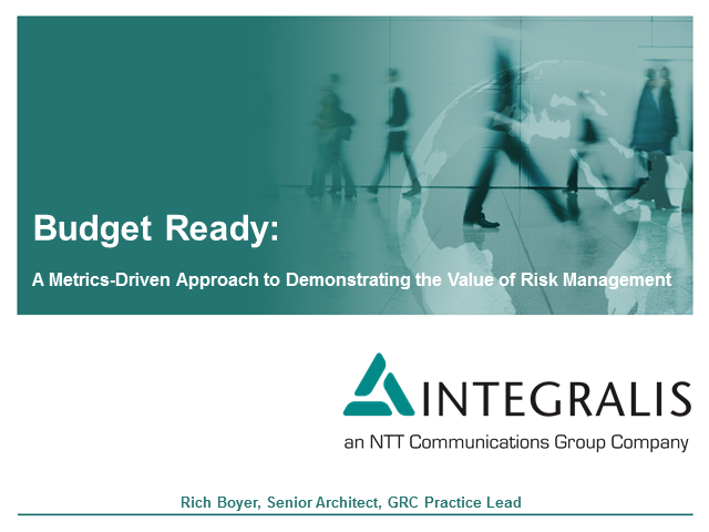 A Metrics-Driven Approach to Demonstrating the Value of Risk Management
