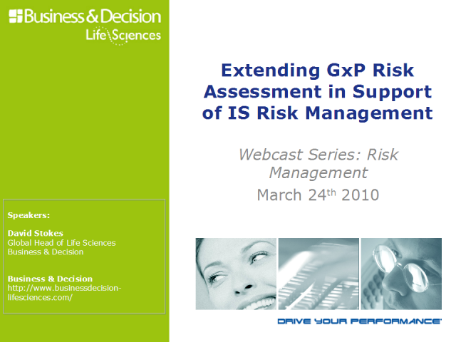 Extending GxP Risk Assessment in Support of IS Risk Management