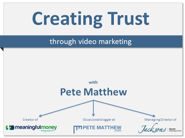 Creating Trust Through Video Marketing - How To Get Your Prospects To Love You