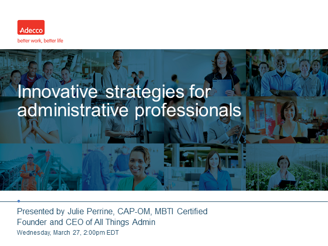 Innovative strategies for administrative professionals