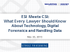 ESI Meets CSI:What Every Lawyer Should Know About Technology & Digital Forensics