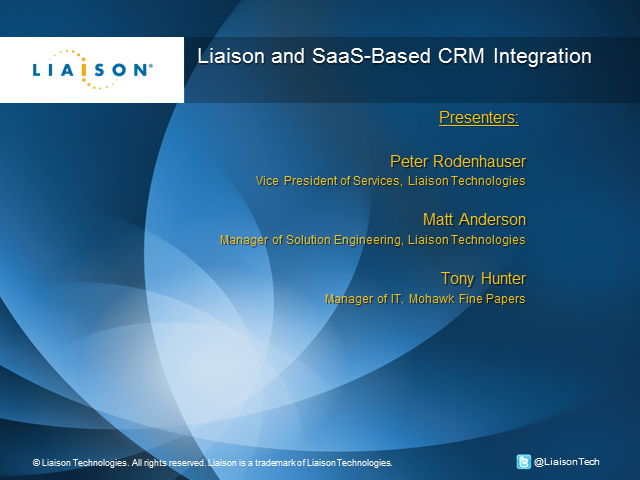 Liaison and SaaS-Based CRM Integration