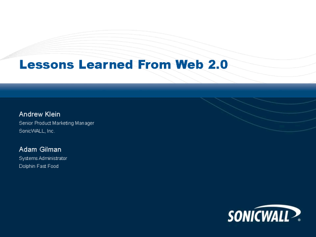 Lessons Learned From Web 2.0