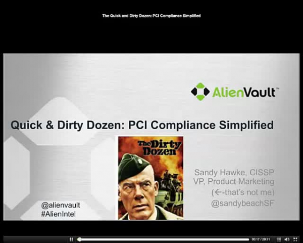 Quick & Dirty Dozen: PCI Compliance Simplified