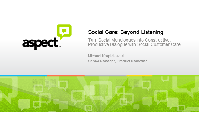 Social Care: Beyond Listening