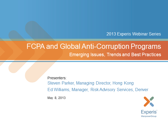 FCPA and Global Anti-Corruption Programs