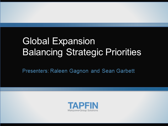 Global Expansion: Balancing Strategic Priorities