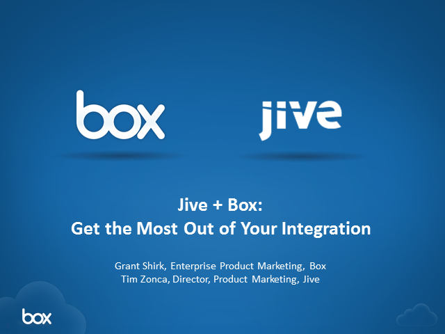 Jive + Box: Get the Most out of your Integration