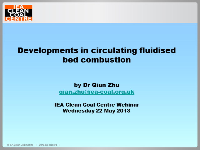 Developments in circulating fluidised bed combustion