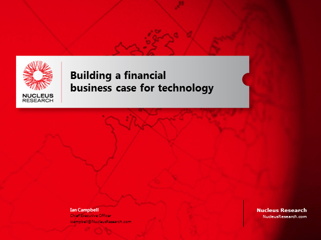 Building a Financial Business Case for Technology