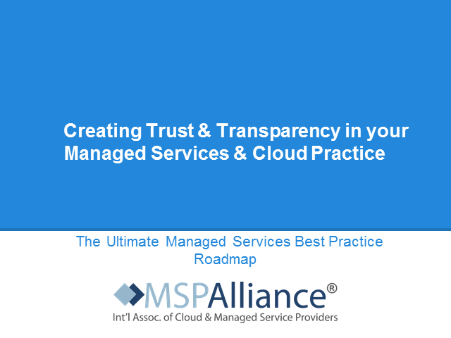 Cloud & MSP Certification: Building Trust & Transparency with your Customers