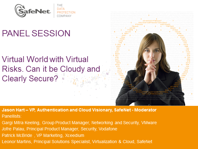 Panel: Virtual World with Virtual Risks. Can it be Cloudy and Clearly Secure?
