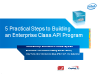 5 Practical Steps to Building an Enterprise Class API Program