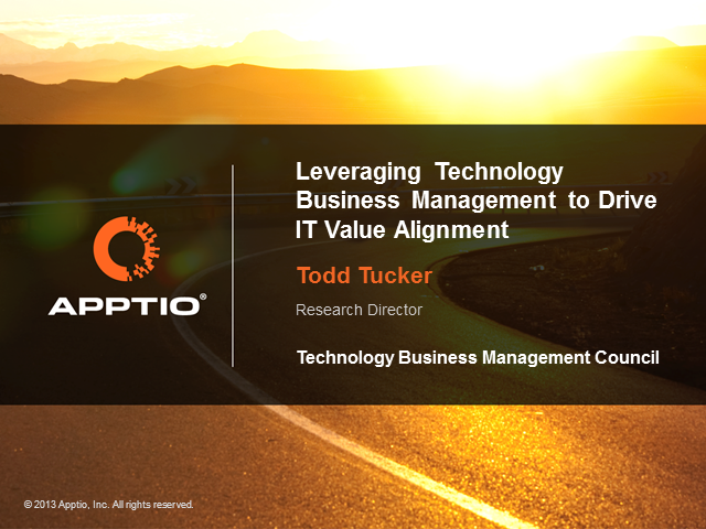Leveraging Technology Business Management to Drive IT Value Alignment