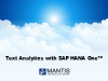 SAP HANA One Success Story: Performing Text Analytics with SAP HANA One
