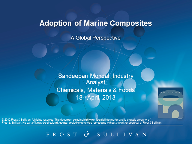 Adoption of Marine Composites – A Global Perspective