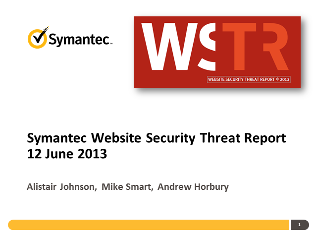 Insights from the Symantec Website Security Threat Report 2012