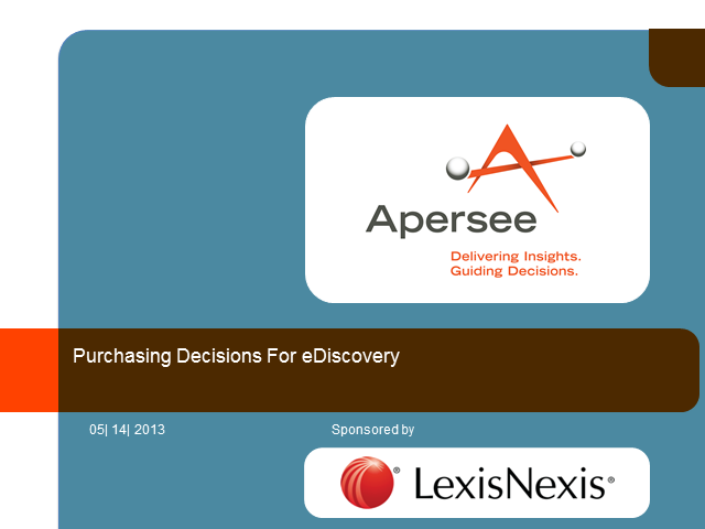 Purchasing Decisions for eDiscovery