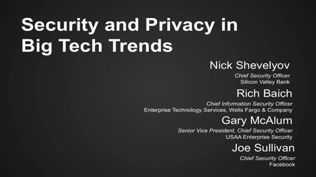 Security and Privacy in Big Tech Trends