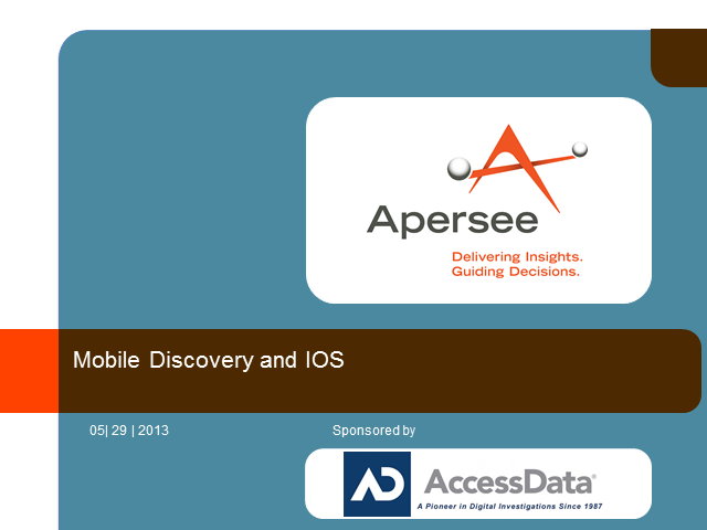 Mobile Discovery and IOS