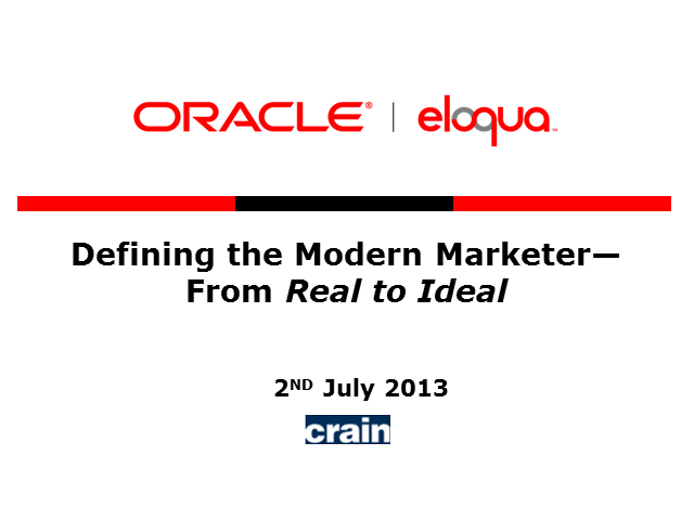 Defining the modern marketer - from real to ideal