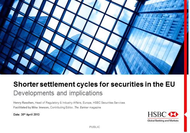 T+2: what shorter settlement cycles will mean for you