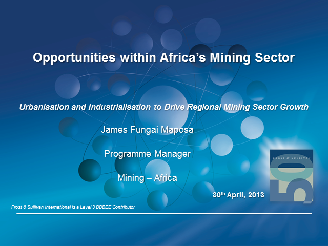 Opportunities within Africa's Mining Sector