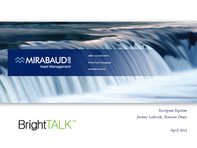 Mirabaud - Equties Pan Europe Q1-13 Update
