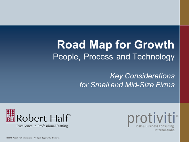 Road Map for Growth — People, Process & Technology: Key Considerations for SMBs