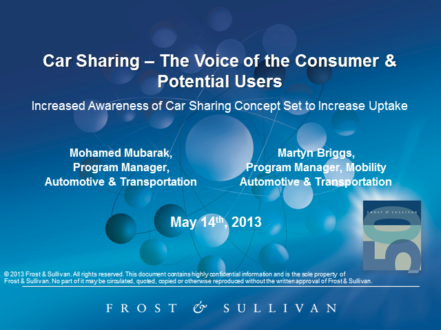 Car Sharing - The Voice of the Consumer